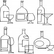 Drinking set — Stock Vector