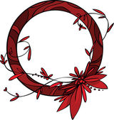Red flower — Wektor stockowy