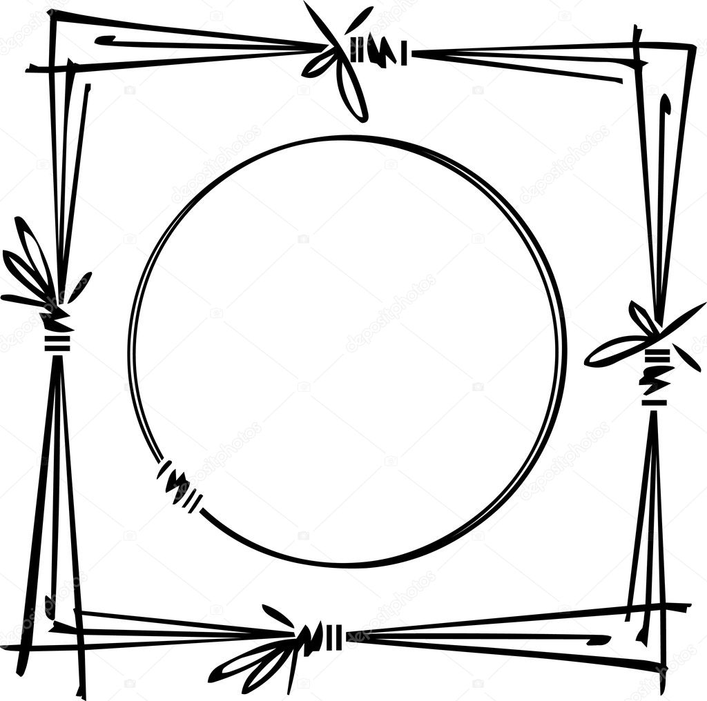 Decorative hand-drawing frame — Stock Vector #2905207