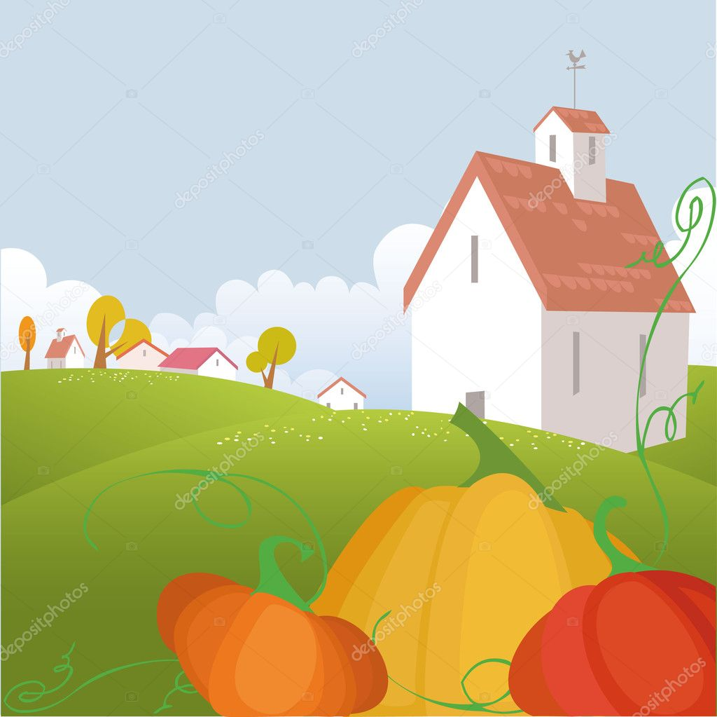Autumn background with pumpkin — Stock Vector #2905262