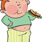 Boy with hotdog — Stock Vector