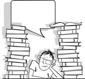 Estudiante — Vector de stock
