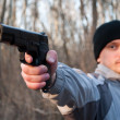 Man aiming gun — Stock Photo #2767055