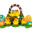 Easter chicks — 图库照片