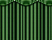 Green curtain — Stock Photo