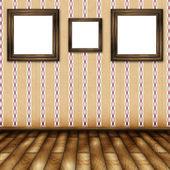 Woonkamer met schilderijen op de muur — Stockfoto