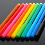 Colored felt pens — Stock Photo