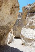 White stones of Makhtesh Ramon — Stock Photo