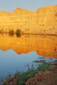 Reservoir in the Arava desert — Stock Photo