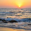 Sunset on the beach — Stockfoto