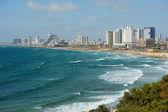 Sea coast and the view of Tel Aviv — Stock Photo