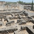 Stock Photo: Excavations of ancient city of Capernaum