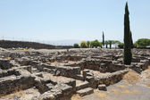 Excavations of the ancient city of Capernaum — Stock Photo