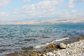 Lake Kinneret at dawn — Stock Photo