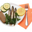 Smoked fishes — Stock Photo