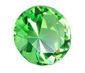 Singe green crystal diamond — Stock Photo