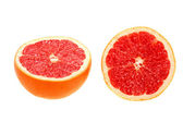 Two cross section of grapefruit — Stock Photo