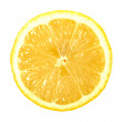 Single cross section of lemon — Stock Photo