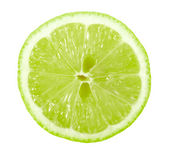 Single cross section of lime — Stock Photo