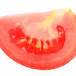 Single cross of a red tomato — Stock Photo #3397233