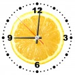 Lemon as a office clock — Stock Photo
