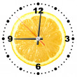 Lemon as a office clock — Stok fotoğraf