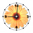 Royalty-Free Stock Photo: Single orange flower as a office clock