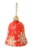 Single sweet as christmas red bell — Stock Photo