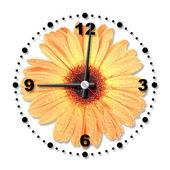 Fleur d'oranger unique comme une horloge de bureau — Photo