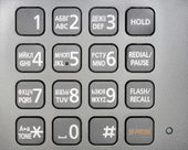 Metallic phone keypad — Stock Photo