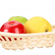 Royalty-Free Stock Photo: Three apples in basket