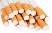 Heap of cigarettes with filter — Stock Photo