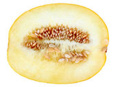 Single cross ripe yellow melon — Stock Photo