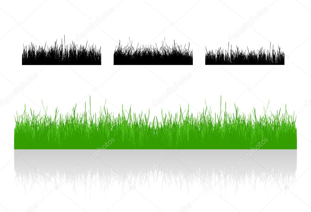 Set realistic vector grass — Stock Vector #2781412