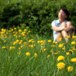Stock Photo: Girl relaxs in summer