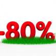 Eighty percent off — Stock Photo