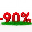 Ninety percent off — Stock Photo