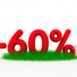 Royalty-Free Stock Photo: Sixty percent off