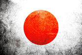 Grunge flag of Japan — Stock Photo