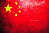 Grunge flag China — Stock Photo
