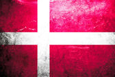 Grunge flag Denmark — Stock Photo
