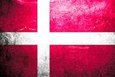 Grunge flag Denmark — Stock Photo