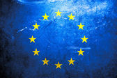 Grunge flag of European union — Stock Photo