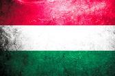 Grunge flag of Hungary — Stock Photo