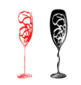 Stylized Wineglass — Stock Vector