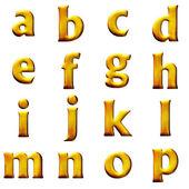 Set 3D letters — Stock Photo