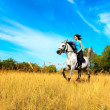 Girl on horse — Stockfoto #3855299
