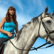 Girl on a horse - Foto Stock