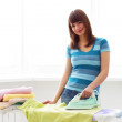 Young woman ironing — Stock Photo #2692863