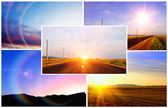 Sunsets and sunrises — Stock Photo